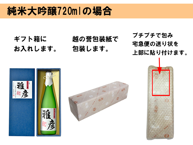 包装姿 純米大吟醸720ml 説明画像