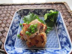 鶏肉の塩糀焼き